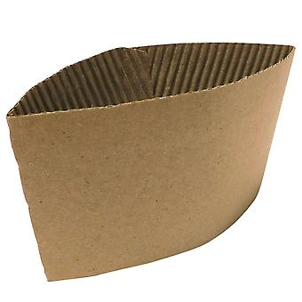 GoPak Brown Corrugated Coffee Cup Sleeve 8oz