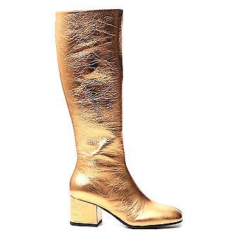 Marni Stms004306p358700y65 Naisten's Kulta nahkasaappaat