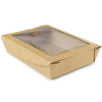Vegware Compostable Large Window Boxes 1100ml
