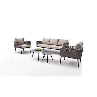 Alu Groupe de sièges Big Feliz - brun gris