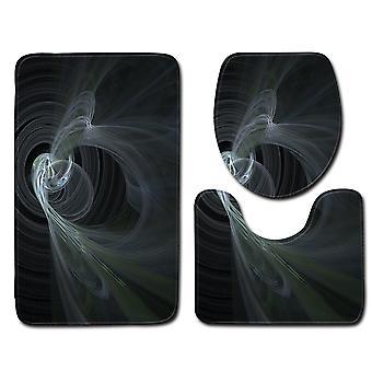 ヤンファン3D塗装3-Pcsバスルームマットセット