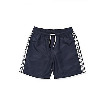 BOSS Kidswear Navy Blue Swim Shorts