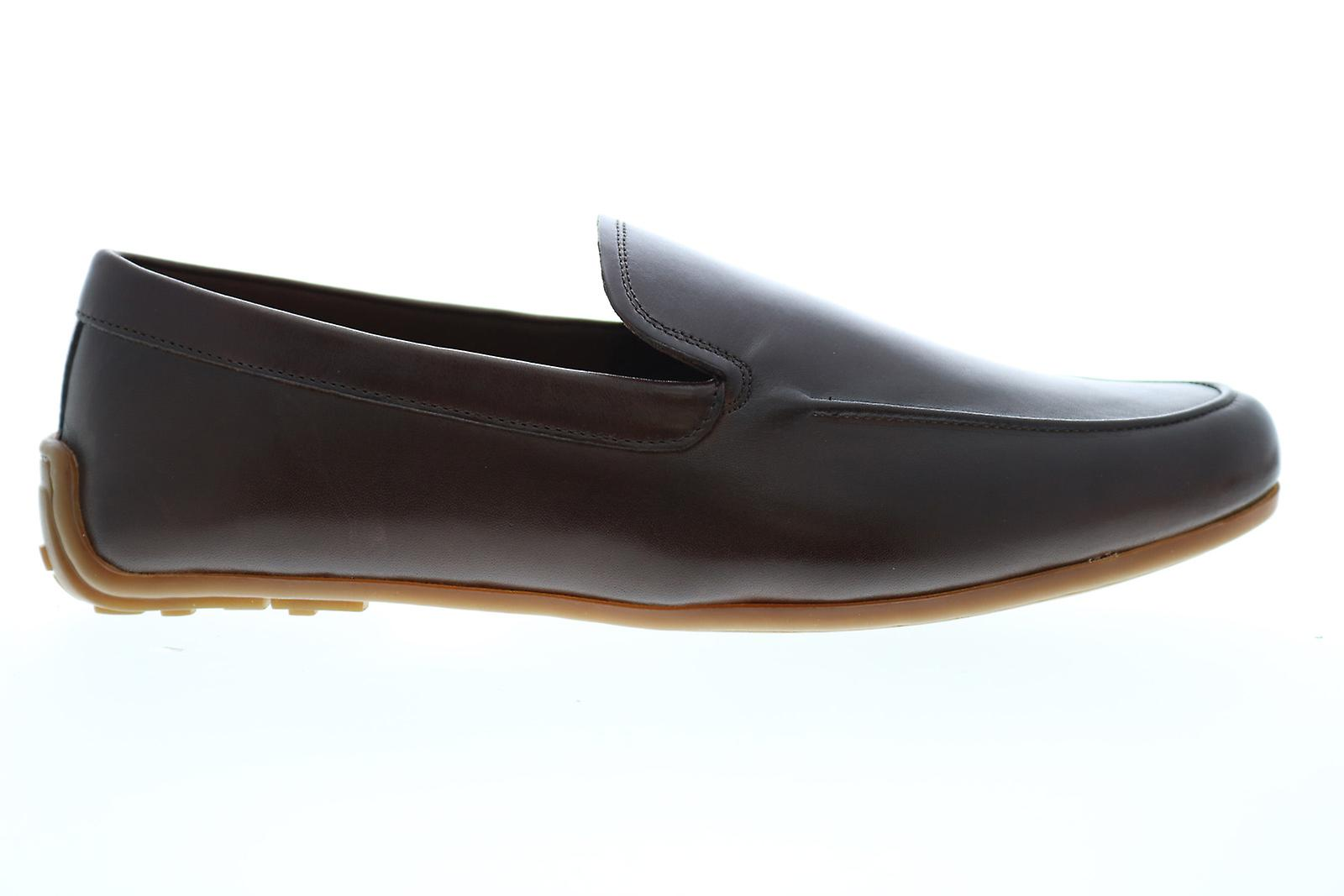 Clarks Reazor Plain Mens Brown Leather Casual Locakers Chaussures