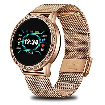 Lige Fashion Sports Smartwatch Fitness Sport Activity Tracker Smartphone Watch iOS Android - Gold