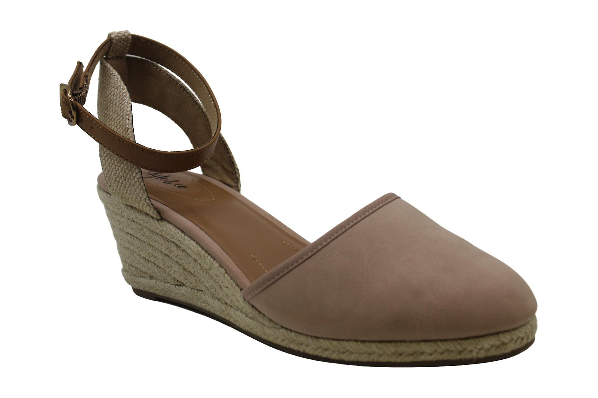 Style & Co. SC35 Paycee Dress Heels Sandals, Black Smooth