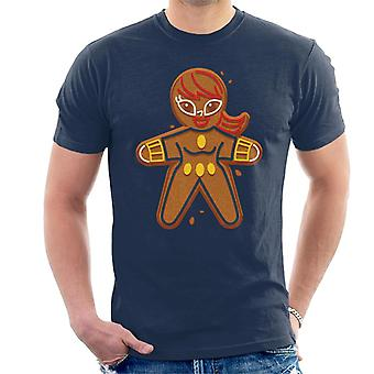 Marvel Avengers Natal Gingerbread Black Widow Men 's T-Shirt