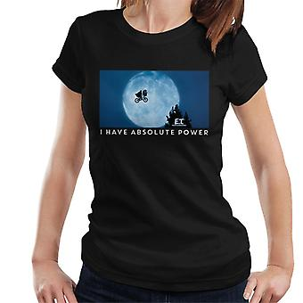 E.T. The Extra-Terrestrial Absolute Power Women's T-Shirt