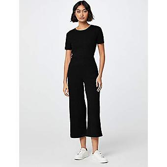 MERAKI Women's Standard Rib Cropped Pants, Black, XL (US 12-14)