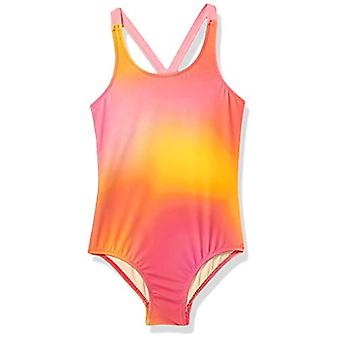Essentials Girl's One-Piece Badpak, Ombre Pink, Small