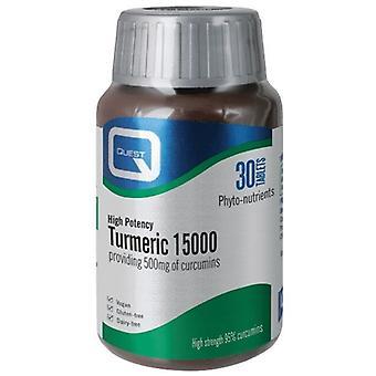 Quest Vitamins Turmeric 15000 Tablets 30 (604071)