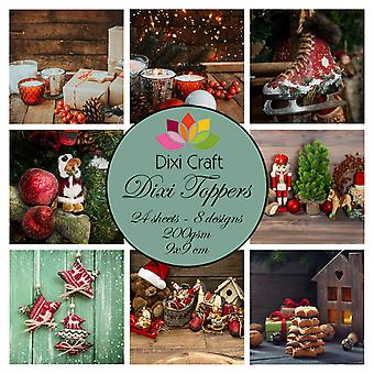 Dixi Craft Vintage Kerst 9x9cm Toppers