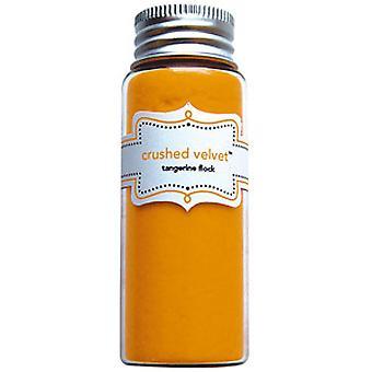 Doodlebug Design Tangerine Crushed Velvet Flock