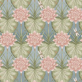 The Chateau by Angel Strawbridge The Lily Garden Wallpaper Eau de Nil LIY/EDN/WP