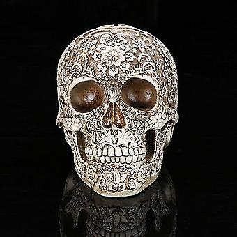 Creatieve Hars Skull Model Life Replica Sculpture Halloween Home Decor