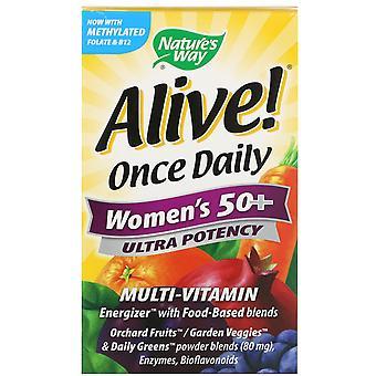 Nature's Way, Alive! Une fois par jour, les femmes-apos;s 50+ Multi-Vitamine, 60 comprimés