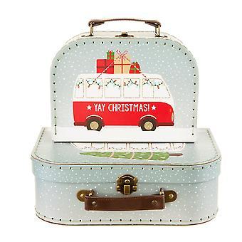 Weihnachten Camper Van Mini Aufbewahrung Koffer Boxen - Set von 2