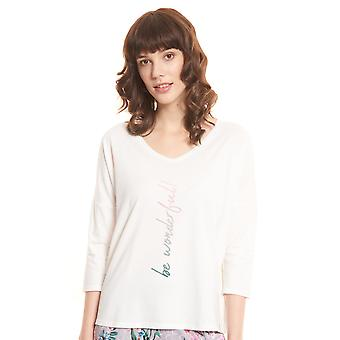 Rösch be happy! 1202100-11727 Women's Cream Pyjama Top
