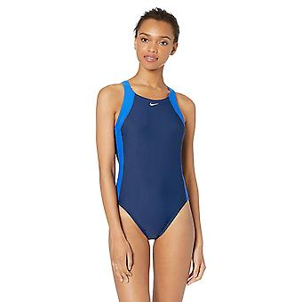 Nike Swim Women's Fast Back One Piece Swimsuit, Game Royal/Midnight Navy, 38