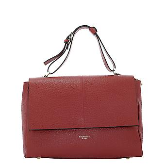 Avenue 67 Elettra95 Women's Red Leather Shoulder Bag