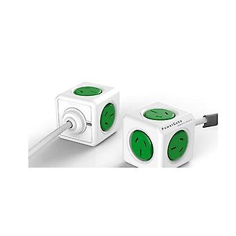 Allocacoc Powercube Extended 5 Outlets 3M Green