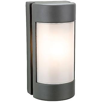 Firstlight Arena - 1 Licht Outdoor Wandlicht Graphit, Opal Polycarbonat Diffusor IP44, E27