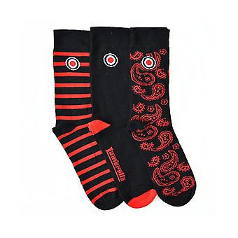 Lambretta 3 Pack Sock Paisley - Red