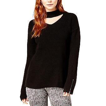 Bar III | Zip-Cuff Choker-Neck Sweater