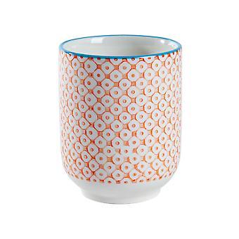 Nicola Spring Hand Printed Porcelain Mug - Japanese Style Print - 280ml - Orange
