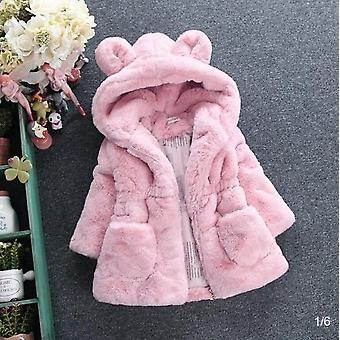 Winter Baby Girls Outerwear Children Hooded Parkas Infant Jackets Warm Cotton