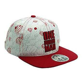 One Punch Man Baseball  Snapback Cap Punches new Official Beige & Red Strapback