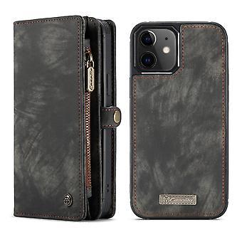 CASEME iPhone 12 Mini Retro LompakkoKotelo - Musta
