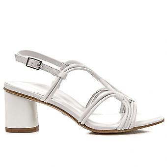 Tamaris Cuir blanc avec sandale à talons