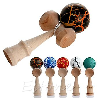 Safety Crack Pattern Toy, Bamboo Kendama Wooden Educational