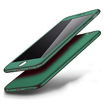 Stuff Certified® iPhone 8 Plus 360 ° Full Cover - Full Body Case Case + Screen protector Green