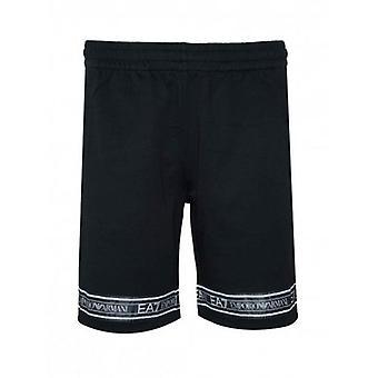 EA7 Black Tape Logo Cotton Shorts
