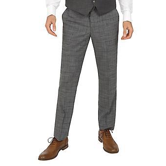 Jenson Samuel York Light Grey Check Trousers