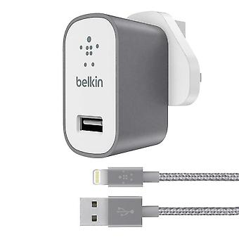 Belkin Fast 2.4 Amp USB Mains Charger con 1.2 metros Lightning Charge and Sync
