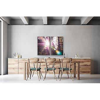 Pink Flare - Two Piece Pink Bokeh Lensflare Wall Art Prints