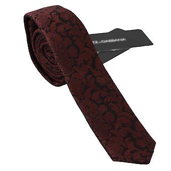 Dolce & Gabbana punainen silkki barokki kukka tulostaa classic solmio -- KRA7457264