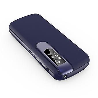 すべてのパワーバンク50,000mAhデュアル2x USBポート - LEDディスプレイと懐中電灯 - 外部緊急バッテリー充電器ブルー