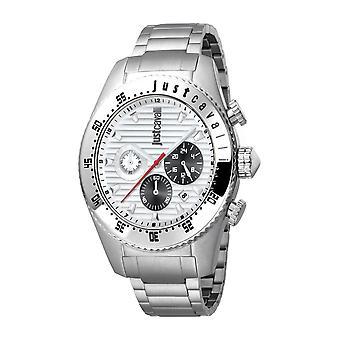 Just Cavalli Men's Sport Silver Dial Stainless Steel Watch