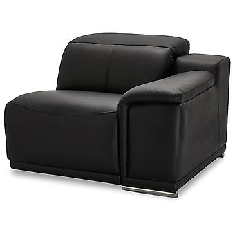 Ibbe Design Alexa 1 Seater Arm Right Black Leather No Function, 105x102x73 cm
