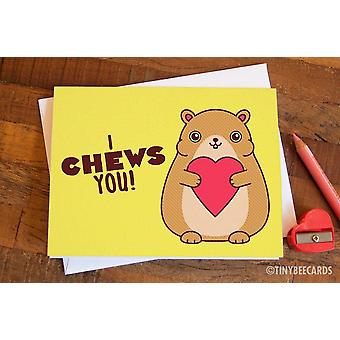 Hamster Love Card