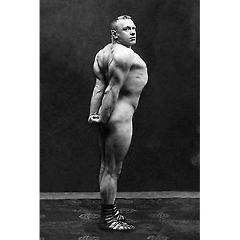 Profiili käsi olkapäähän ja ylempi takaisin Flex Juliste Tulosta Vintage lihas miesten