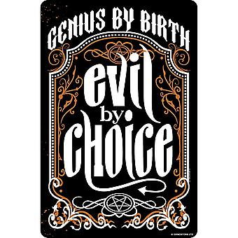 Grindstore Genius By Birth Evil By Choice Plaque