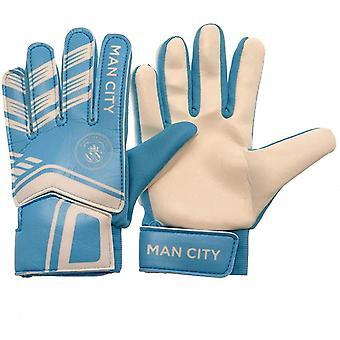 Manchester City FC Childrens/Kids målmand handsker
