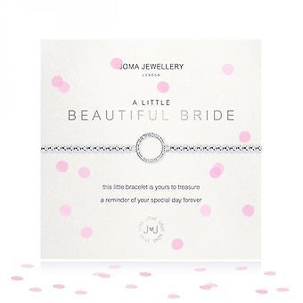 Joma Sieraden Een kleine mooie bruid zilver 17,5 cm stretch armband 3484