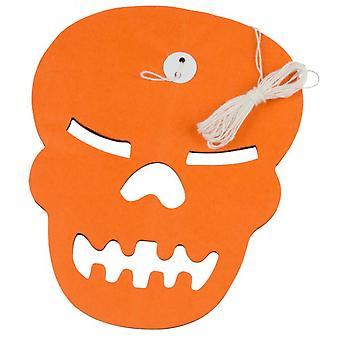Pendulum Skull Halloween 3 Meter Paper Orange