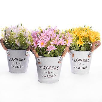 Artificial Daisy Plants - Set of 3 | M&W