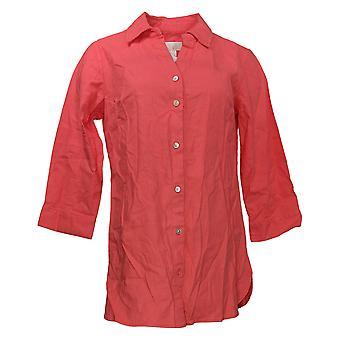 Belle van Kim Gravel Women's Top Sretchabelle 3/4 Slv Linnen Shirt A291190